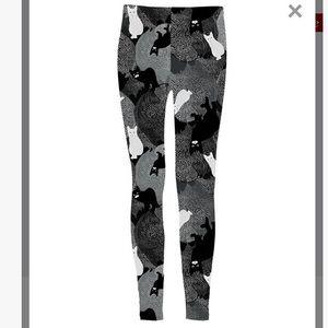 Pants - NWOT Cat Print Leggings